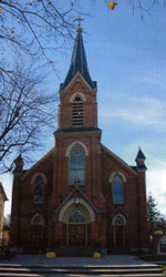 St. Alphonsus Catholic Church Exterior View